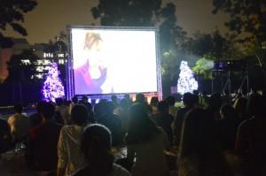 學生會已連續兩年在耶誕節舉辦戶外電影夜