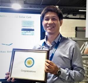 中興大學光電所裴靜偉教授代表研究團隊出席IEEE Photovoltaic Specialist Conference (簡稱IEEEE PVSC),榮獲最佳海報獎。