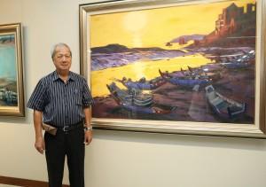知名畫家倪朝龍即日起至10月20日在興大藝術中心舉勵「愛的行板--2017倪朝龍創作展」